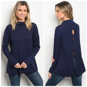 Tops - ❤️Get yours now -  Navy Long Sleeve Shirt❤️